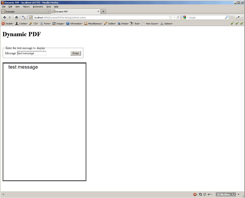 Dynamic PDF Servlet