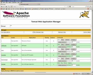 Tomcat Admin page