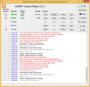 XAMPP_Apache_error